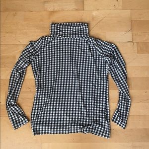 NWOT Talbots thermawarmth plaid turtleneck size XS